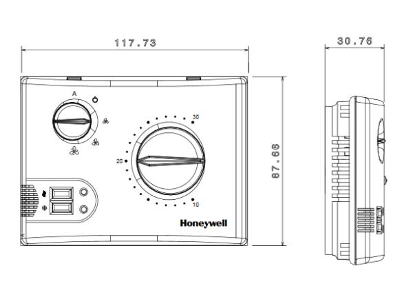 Sterownik klimakonwektorów T6580A1008 i T6580A1016 HONEYWELL