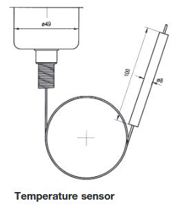 Termostat w wersji przeciwwybuchowej z kapilarą Ex-TAM HONEYWELL