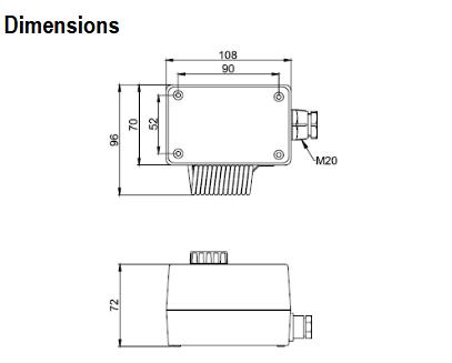 Termostat pomieszczeniowy do zastosowań przemysłowych 1 i 2 stopniowy T6120 HONEYWELL