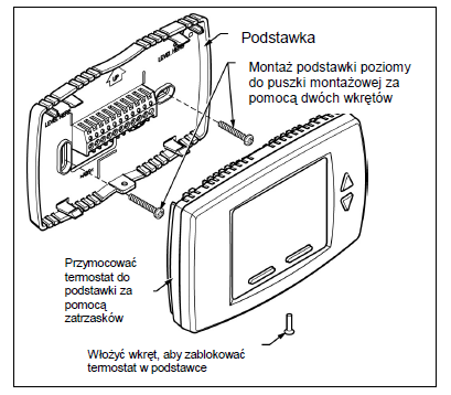 Termostat cyfrowy do klimakonwektorów T6590 HONEYWELL