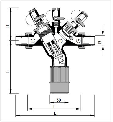 Izolator przepływu zwrotnego z obniżoną strefą ciśnienia BA295S HONEYWELL