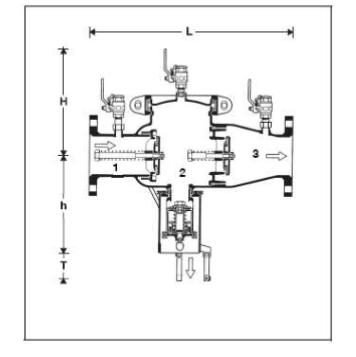 Izolator przepływu zwrotnego kołnierzowy BA298I-F HONEYWELL Braukmann