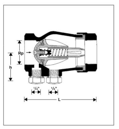 Zawór zwrotny antyskażeniowy EA-RV280 HONEYWELL