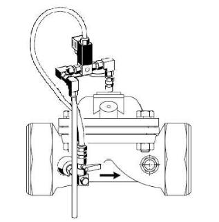 Zawór elektromagnetyczny, przyłącze gwintowane MV300 MV100 HONEYWELL