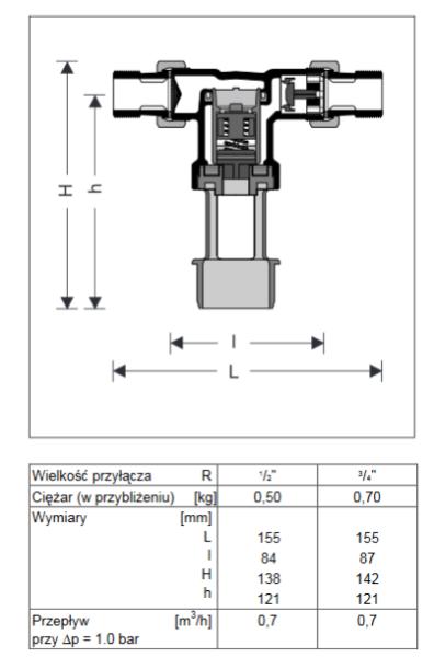 Izolator przepływu zwrotnego o różnych strefach ciśnienia CA295 HONEYWELL Braukmann
