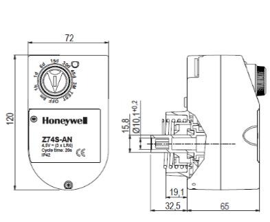 Automat czasowy Z74S-AN HONEYWELL