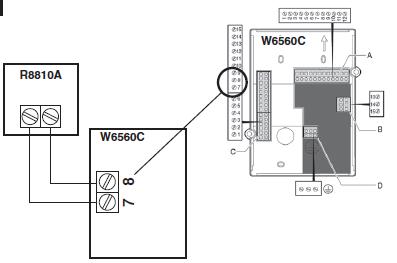Moduł załączający współpracujący z kotłami z komunikacją Opentherm R8810 HONEYWELL