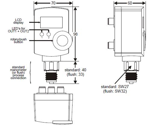 Elektroniczny przetwornik ciśnienia Smart Press PST-R HONEYWELL