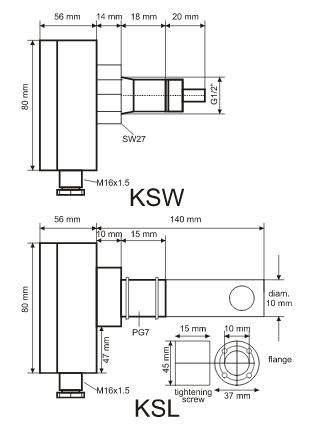 Elektroniczny sygnalizator przepływu powietrza/cieczy KSL KSW HONEYWELL
