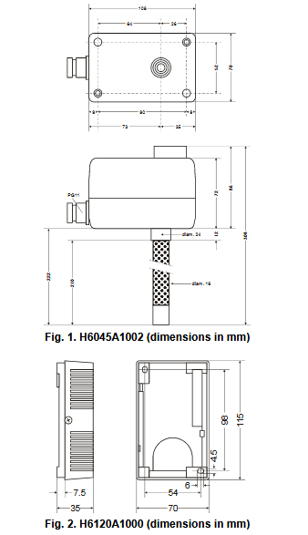 Higrostat H6045 H6120 HONEYWELL