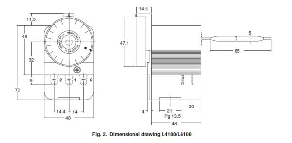 Termostat L41 L61 HONEYWELL