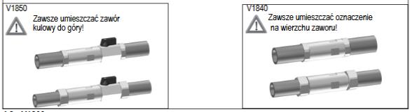 Zawór równoważący w cyrkulacji poziomej V1840 V1850 Alwa-Comfort HONEYWELL