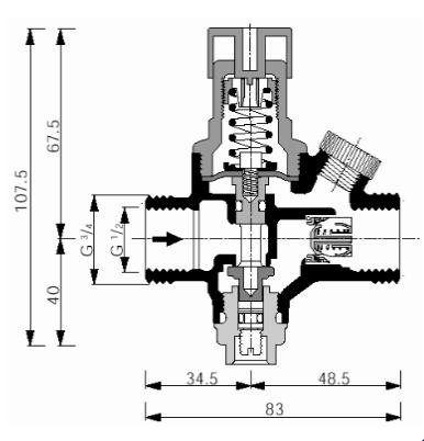 Zawór napełniający do zamkniętych instalacji grzewczych VF04 HONEYWELL
