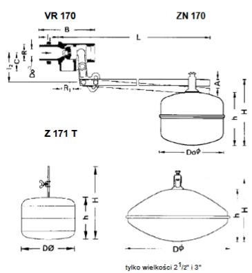 Zawór pływakowy do zbiorników wody VR170 HONEYWELL