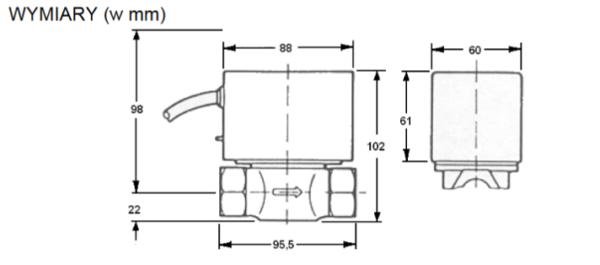 Zawór strefowy przelotowy 2-drogowy V4043H HONEYWELL