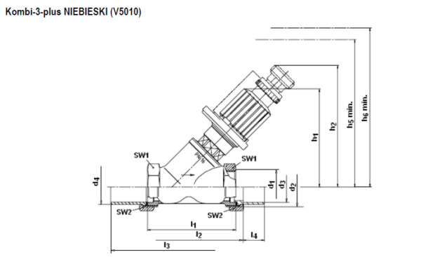 Zawór odcinający i regulacyjno-odcinający V5010 Kombi-3-plus HONEYWELL