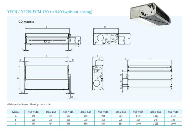 Klimakonwektor kanałowy YFCN ECM (0,7-7,1kW) YORK®