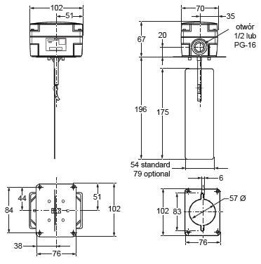 Sygnalizator przepływu powietrza F262 PENN