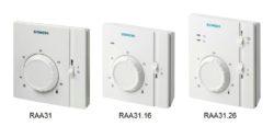Termostat pomieszczeniowy RAA31, RAA31.16 i RAA31.26 SIEMENS