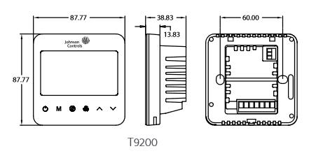 Termostaty klimakonwektorowe z dotykowym wyświetlaczem T9000 JOHNSON CONTROLS